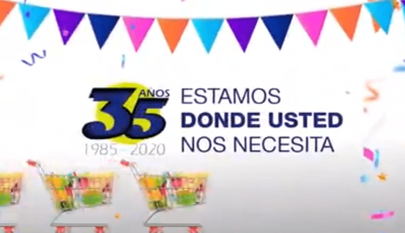 Imagen de APA Supermercados, publicado en su video en Redes Sociales