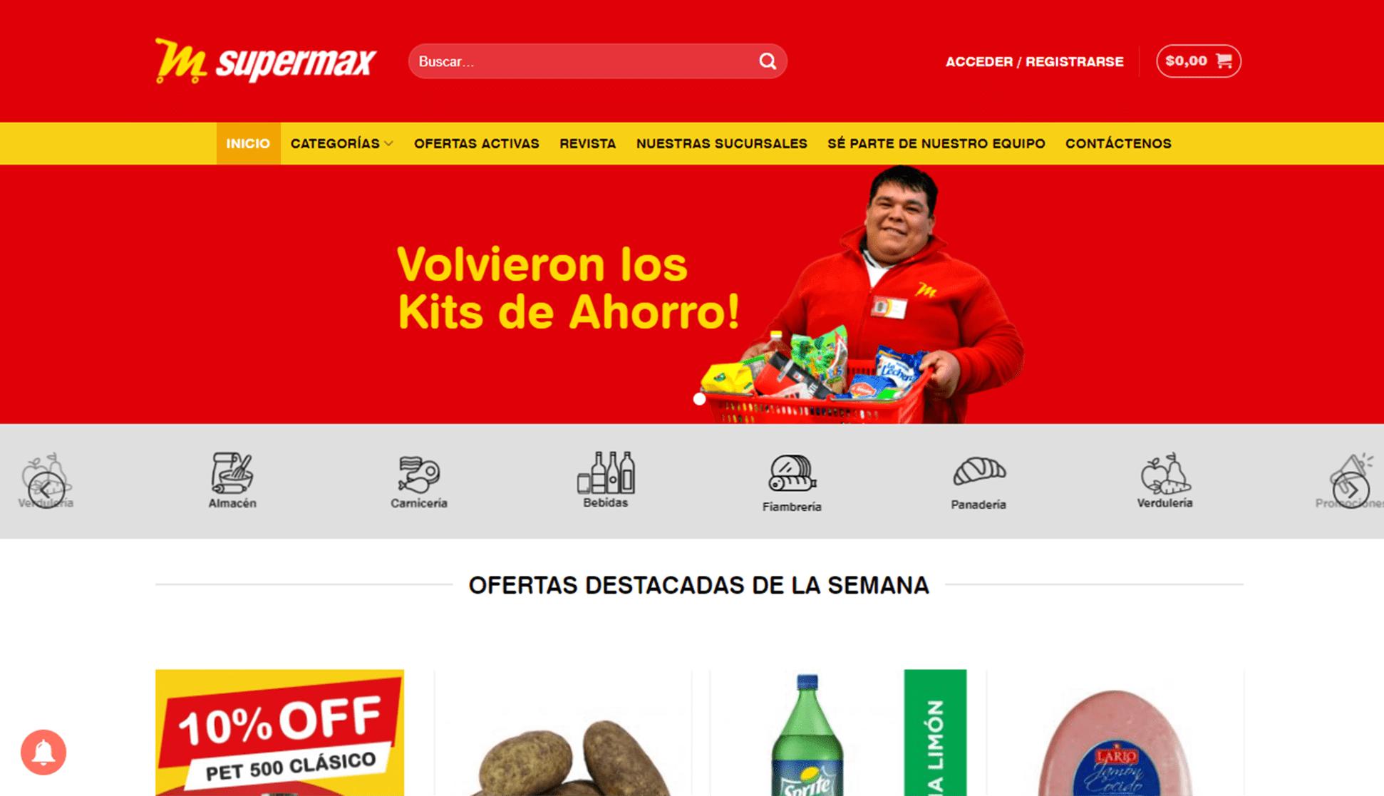 Imagen de Supermax, Sitio Web.
